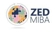 ZED MIBA logo is a globe composed of puzzle pieces
